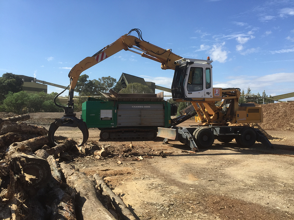 Timber Waste Shredding The Rock Yard Albury Wodonga